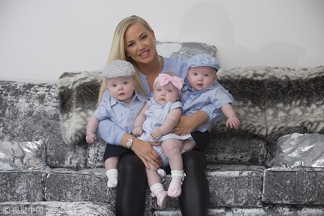 意外的礼物 英女子一直服用避孕药却意外怀孕生下三胞胎
