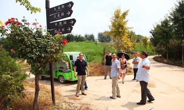 南阳市旅游和外事侨务局副局长张清岑在南阳月季博览园进行实地考察