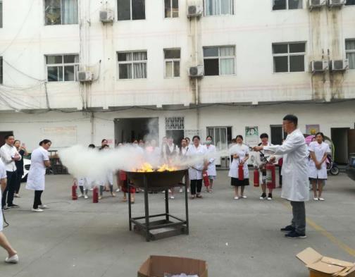 先放安全月月抓 南阳丽人妇科医院举行5月消防演练