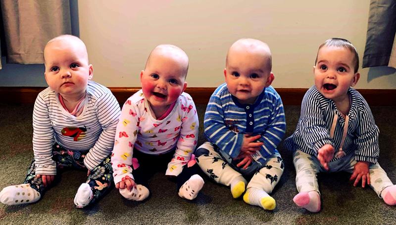 新西兰曾被诊断为多囊卵巢28岁女子生下四胞胎